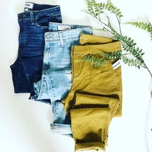 Old navy mustard yellow stretch pixie pants 10